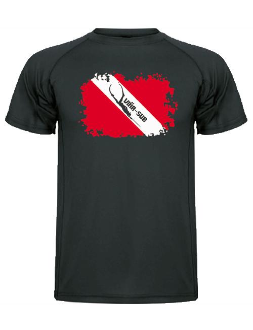 camiseta bandera gris