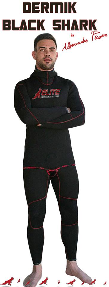 Traje Elite DERMIK BLACK SHARK