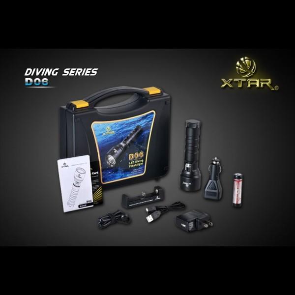 Linterna XTAR D06 Buceo Full versión