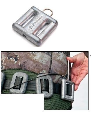 Plomo 1 Kg con agujero para pasapeces