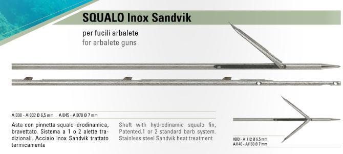 Varillas Salvimar Squalo 6.5 y 7mm Inox Sandvik