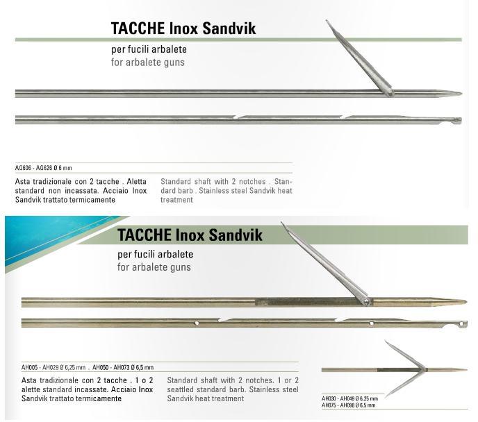 Varillas Salvimar Tahitiana 6.25, 6.5 y 7mm Inox Sandvik